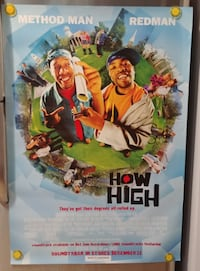 Method Man – How High 2001 original movie theater poster Hamilton