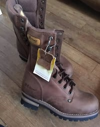 pair of brown leather work boots Palmdale