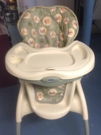 baby's white and gray high chair Massapequa Park, 11762