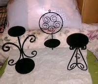 two black metal candle holders Oceanside, 92054