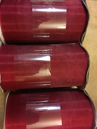 Burgundy wine color organza ribbon 5 inch rolls new Alexandria, 22315