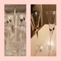 Crystal and silver wedding flutes Whitby, L1N 8X2