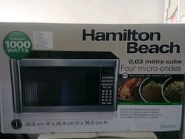 Microwave, fridge, foodi all in one. All brand new available for sale