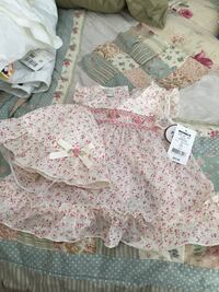 baby's white and pink floral onesie Cary, 27539