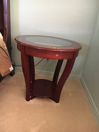 side table with glass top  PHOENIX