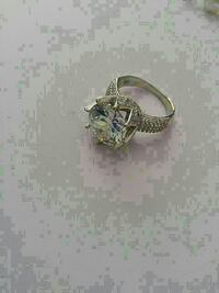 White sapphire ring - size 7