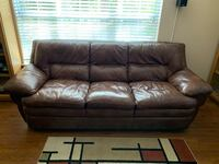 Brown leather couch Charlotte, 28226