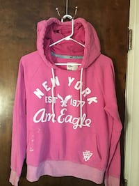 Pink American Eagle pullover hoodie size L