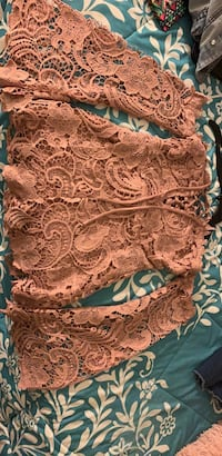 white and brown floral textile Savage, 20763