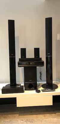 Black Sony Home Theatre Speaker system