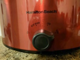 HAMILTON BEACH  ~ ☆ • 8 QT. SLOW COOKER • ☆ ~ ☆ CANDY ???? APPLE RED ☆