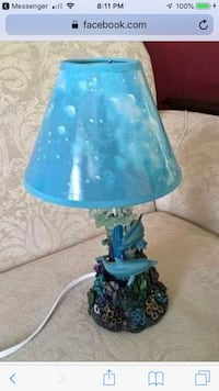 Rainbow Dolphin and Sea life Lamp by Lassen  Baltimore, 21236