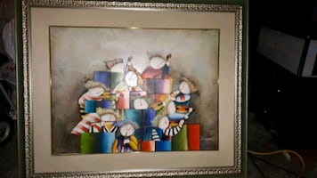 Framed print perfect for a nursery or music room