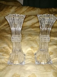 clear glass candlestick set of 2 Ontario, M2R 1Z7