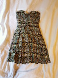 women's black and brown spaghetti strap dress Edmonton, T6G
