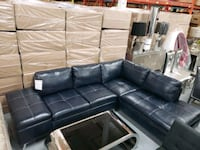 New Blue gel leather sectional with storage on sal Toronto, M9W 1P6