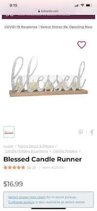 Blessed candle holder