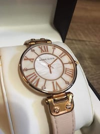 Rose gold Anne Klein watch