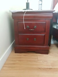 brown wooden 2-drawer nightstand Calgary, T1Y 6W2