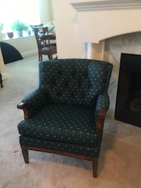 Pair vintage tufted chairs