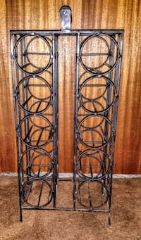 VINTAGE 1960s ARTHUR UMANOFF WROUGHT IRON WINE RACK  2292 mi