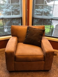 Arm chair, camel color, microfiber fabric.  Good condition Happy Valley, 97086