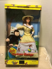 **2000 Barbie & Curious George keepsake treasure collection  New in box  Riverside, 92506