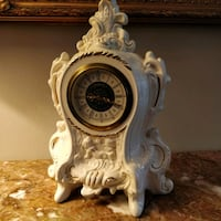 German Mercedes porcelain battery operated clock