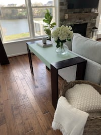 Frosted glass & wood console table Ashburn, 20147