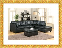 Black sectional free ottoman and delivery Prince George's County