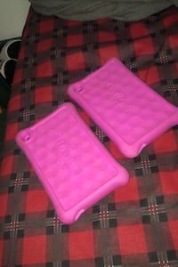 Two amazon kindle fire tablet cases.