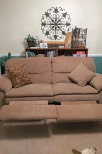 Reclining Couch and Swivel Recliner