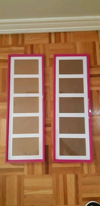 2x Pink 5 Photo Picture Frames  Vaughan