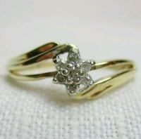 Vintage Estate 10k Solid Gold Genuine Diamond Ring Silver Spring, 20906