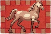 Accent Rug of Prancing Horse Dallas