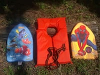 Kid's Spiderman and Finding Nemo boogie boards