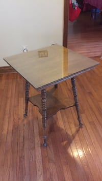 Antique table with ball feet