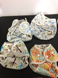 Organic Cloth diapers and coves - 0-9 month
