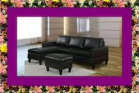 Black sectional free ottoman and delivery Ashburn, 20147