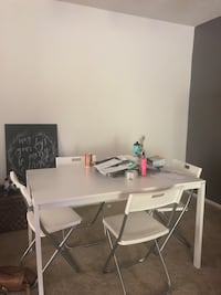 White wooden table with chairs Irvine, 92603