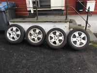 Contineltal tires on alloy wheels for sale Bergen