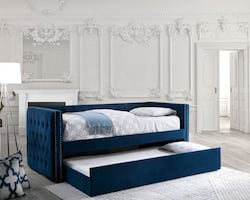 Navy Blue Susanna Day Bed ****FREE DELIVERY *** FINANCING AVAILABLE