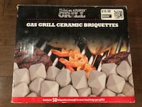 Unopened box of gas grill ceramic barbeque briquettes Waterloo, N2T 0A3