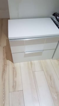 white wooden 3-drawer chest Toronto, M6B