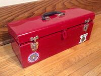 Mastercraft Red Metal Toolbox, Tray London, N6B 2B2