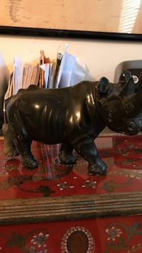 Black onyx rhino and carved on ebay it sells for $450