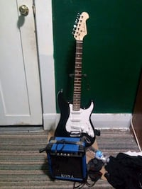 A black and white academy electric guitar London, N5Z 2H7
