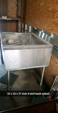 Ice sink for bar pub or home