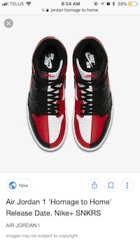 Size 6 homage to home Jordan one  Vaughan, L4K 5M1