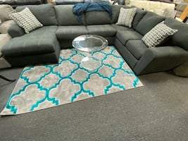 Gray sectional with chaise available right or left chaise IN STOCK